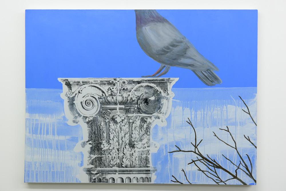 Column, 2015 Acrylic and mixed media on canvas 76cm x 102cm